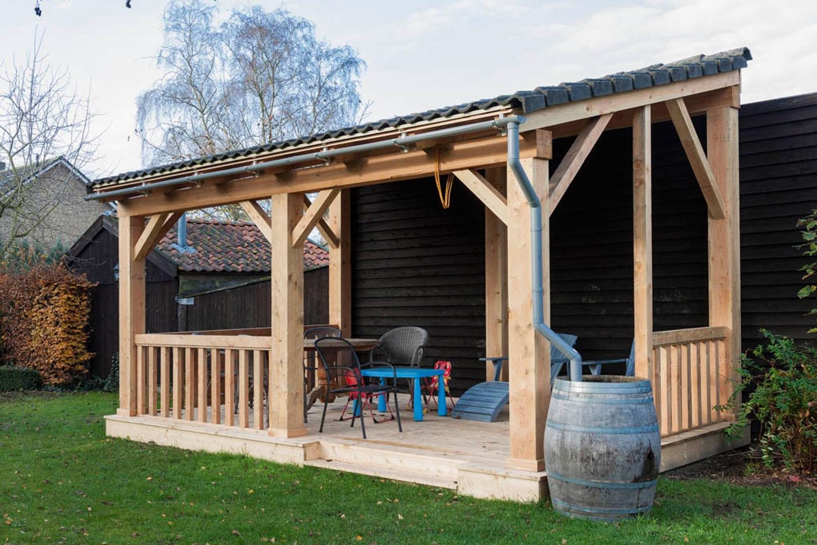 houten maatwerk veranda