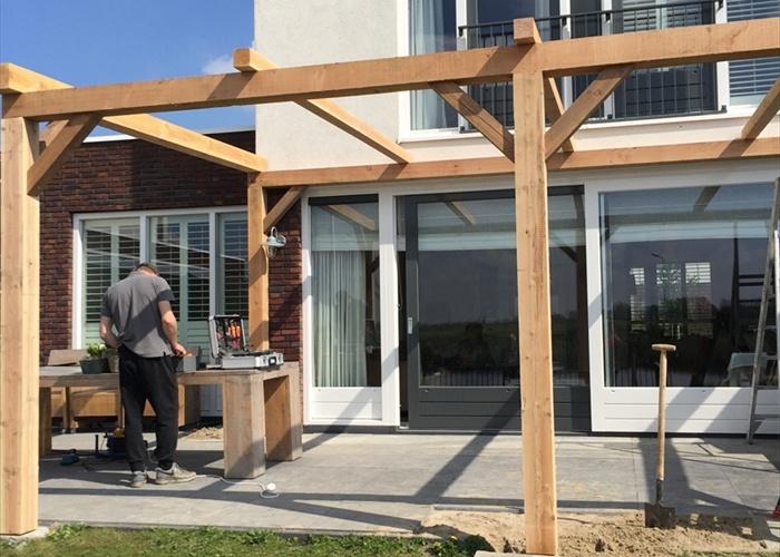 Houten pergola op maat online veranda shop - Bedek een houten pergola ...